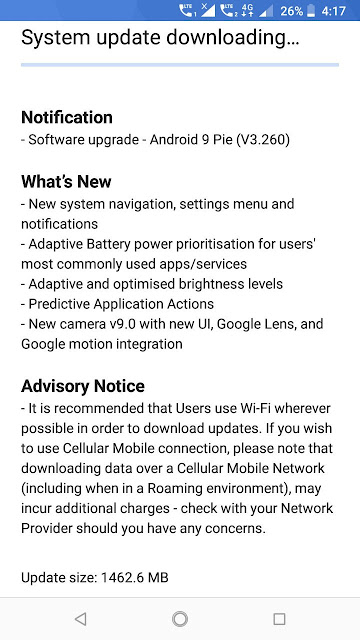 Nokia 6.1 Android Pie Update