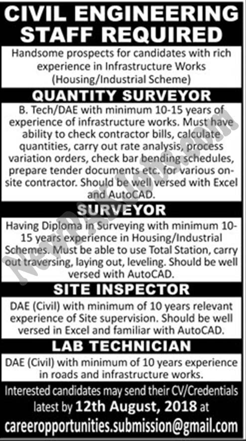 Jobs for Engineers, B.Tech, DAE