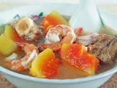 peppery papaya soup (buah paya masak titek)