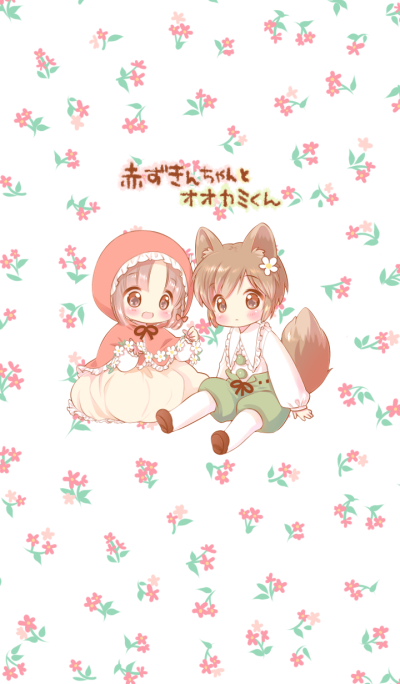 The Little Red Riding Hood and wolf