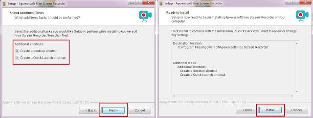 Pada Tab Additional Shortcut, Sobat sesuaikan sesuai keinginan Sobat saja, jika sudah klik Next kemudian klik instal.