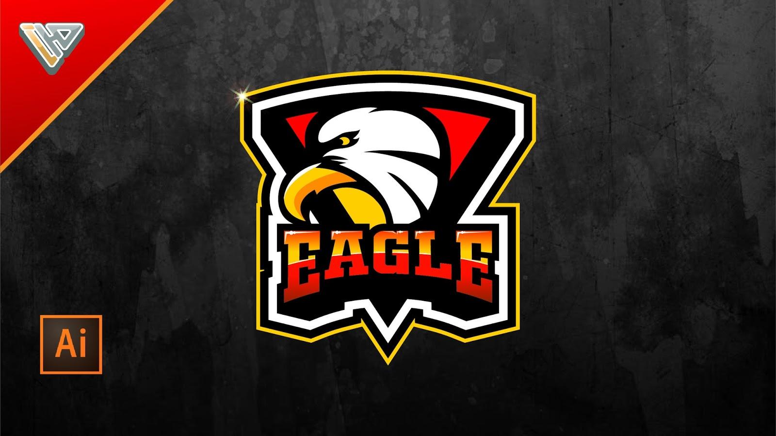 Cara Membuat Logo Badge Sport Eagle Menggunakan Adobe Illustrator