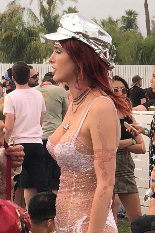 Bella Thorne – Evening of Fun at Coachella in Indio