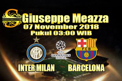 Judi Bola Dan Casino Online - Prediksi Pertandingan Liga Champions Inter Milan Vs Barcelona 07 November 2018