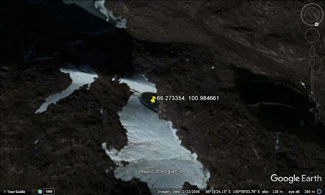 "flying saucer UFO ........ Screen shot of the .... ""flying saucer?????""........ in Antarctica....."