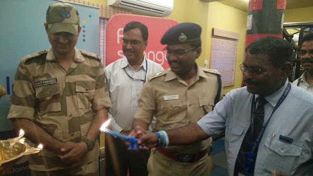 Deputy Commissioner Shri PSC Kalyan inaugurated FitToFly gym with IndiGo staff