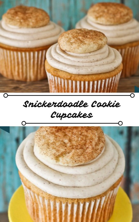 Snickerdoodle Cookie Cupcakes #christmas #cupcakes