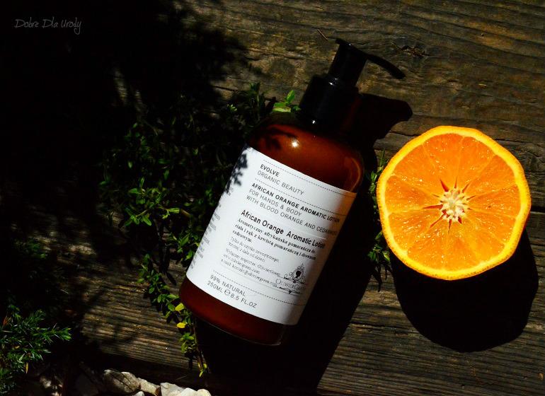 Evolve Organic Beauty Luksusowy Balsam do dłoni i ciała z aromatyczną Afrykańska Pomarańczą i Drewnem Cedrowym