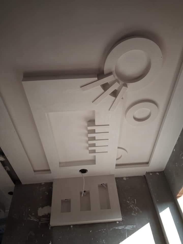 0a1302f2d ديكورات جبس مودرن 2019 بورد غرف نوم,مجالس, اسقف وحوائط معلقة ديكورات جبسية  لشقق رائعه,