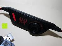 Rädchen für Lautstärke: [Gaming Headset für PS4] Kingtop EACH G9000 Gaming Headset Musick Kopfhörer Ohrhörer 3.5mm On Ear Surround-Sound mit Mikrofon und LED Licht für PS4 PC Laptop Tablet