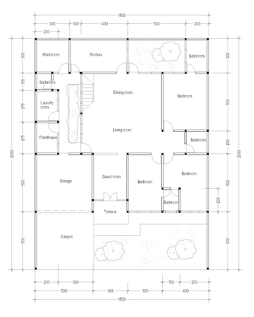 1st Floor Plan for Plan c-10