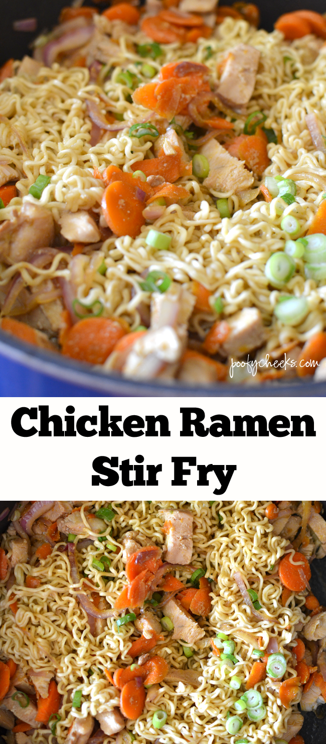 The whole family loves this recipe! Chicken Ramen Stir Fry