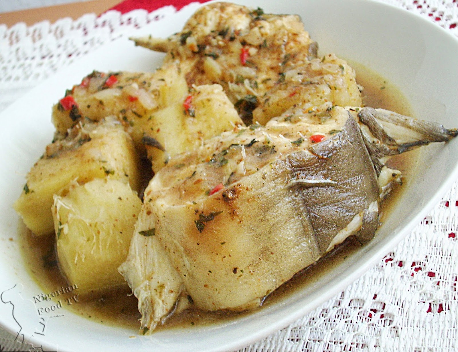 nigerian yam and fresh fish pepper soup nigerian food tv