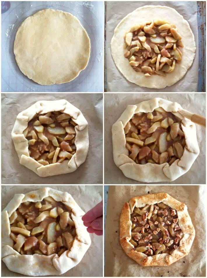 Paso a paso elaboración de la galette de chayota por manzana