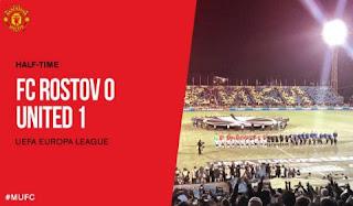HT: FC Rostov vs Manchester United  0-1