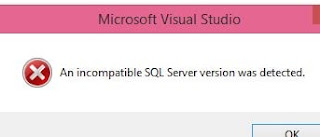 an incompatible sql server version was detected