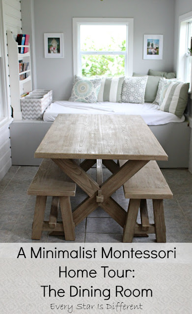 A Minimalist Montessori Home Tour: The Dining Room