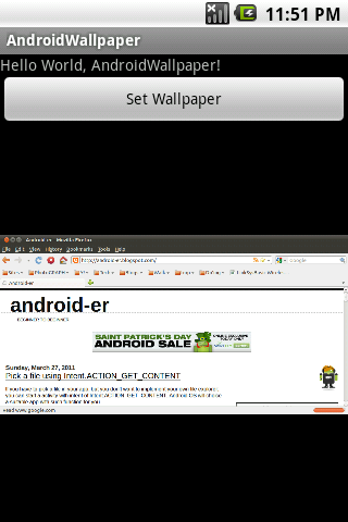 Android er set wallpaper using wallpapermanager - Er finestra android ...