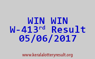 WIN WIN Lottery W 413 Results 5-6-2017