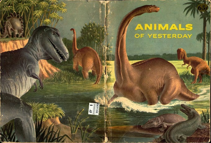 Vintage Dinosaur Art: Animals of Yesterday