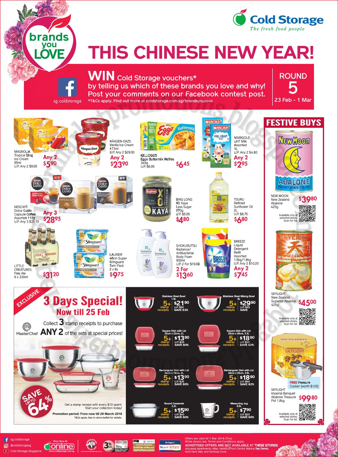 Cold Storage CNY Promotion 23 February - 01 March 2018 ~ Supermarket Promotions