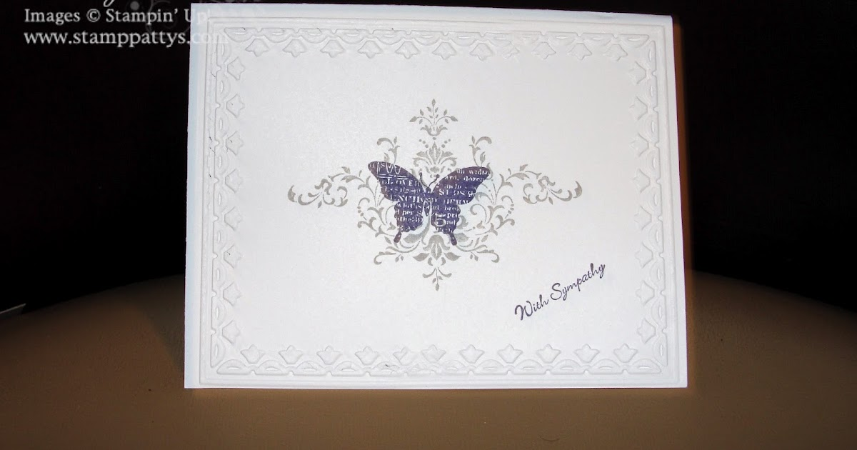 stamppatty's simple sympathy note card
