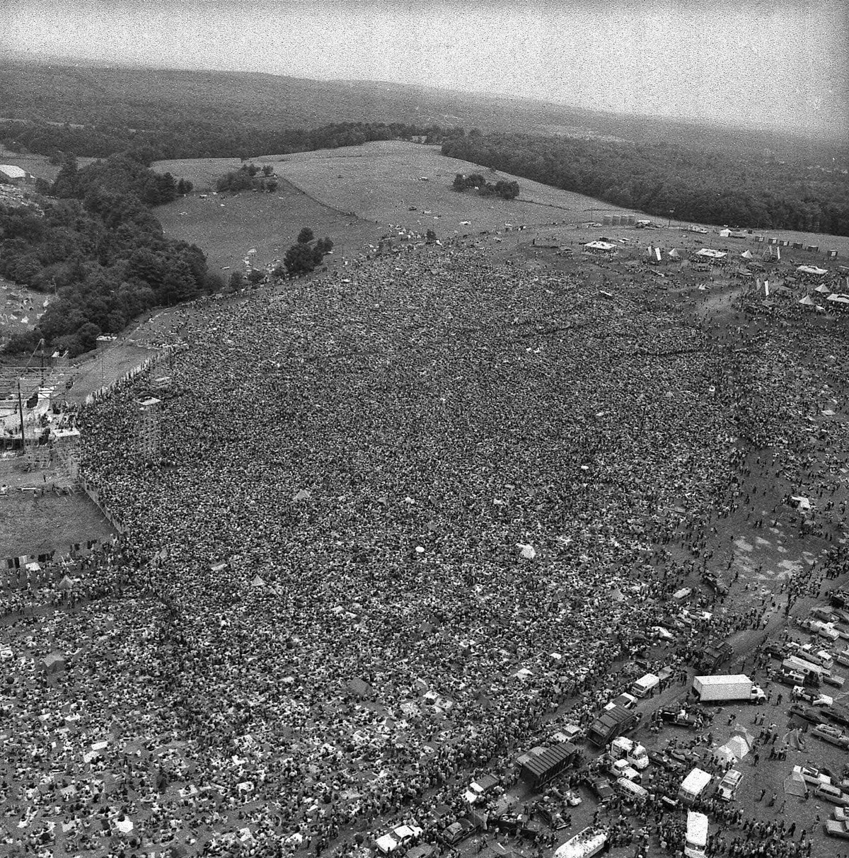 The First Day Of Woodstock On Max Yasgur S Farm In Bethel