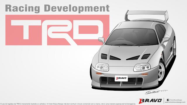 """Imagem mostrando o desenho do Toyota Supra """"TRD 3000GT"""""""