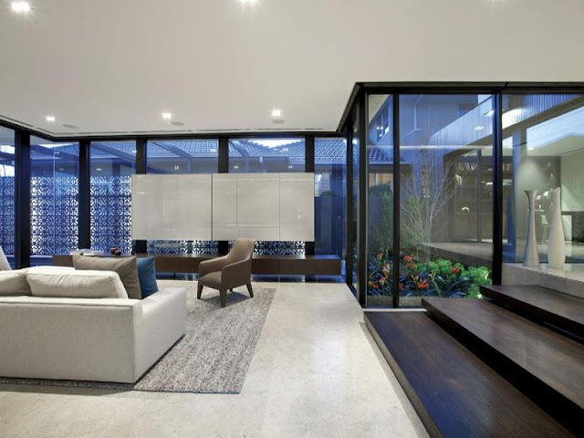 Living room in the ground floor of modern home in Melbourne