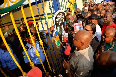 See Governor Nyesom Wike Protesting on the Streets of Rivers Against Police Brutality in the State (Photos)