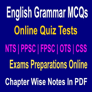 Online Solved Notes English Grammar With Quiz Tests