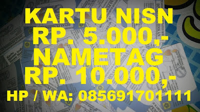 Kartu NISN, Kartu Nametag murah