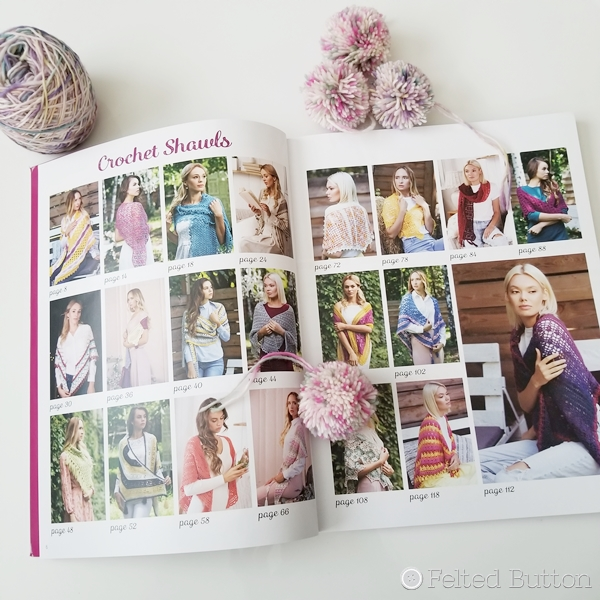 Delicious Crochet Shawls book by Lisa Cook (Review by Susan Carlson of Felted Button)