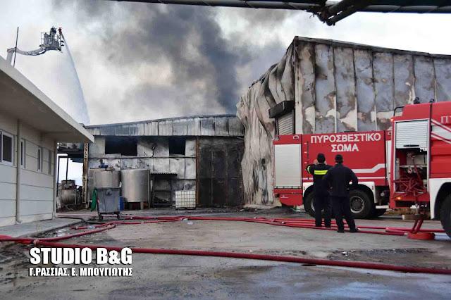 Εικόνες τραγωδίας στο εργοστάσιο Εσπερίδες που κάηκε από την πυρκαγιά στην Αργολίδα