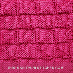 Knit Purl Stitch Alternating : Alternating Broken Check Knit - Purl stitches