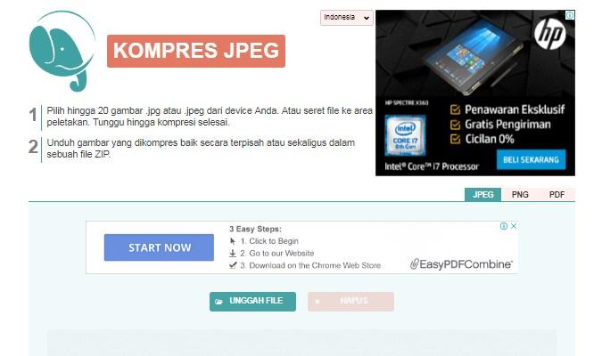 Cara Kompres Foto Tanpa Menurunkan Kwalitas - Compress JPEG