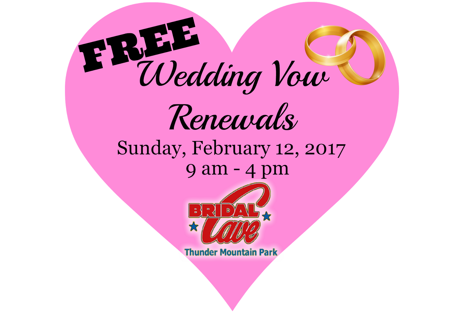 Love Is In The Air (Again) at Bridal Cave & Thunder Mountain Park