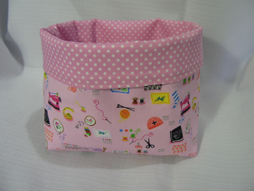 ... fabric basket i made a little while ago it s the third fabric basket i