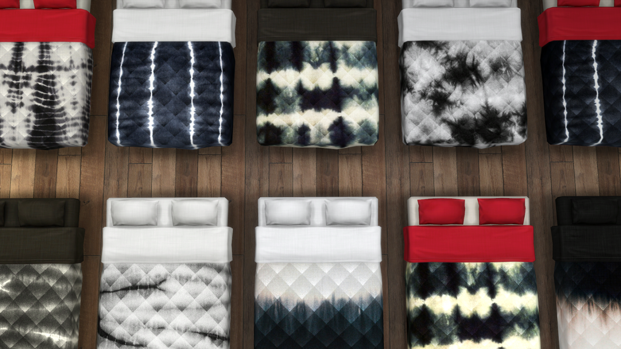 My Sims 4 Blog Tie Dye Mattress Recolors by AnnarchySims