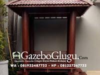 Gazebo Glugu Kayu Kelapa Segi Empat yang Sederhana