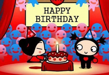 Pucca & Garu Happy Birthday