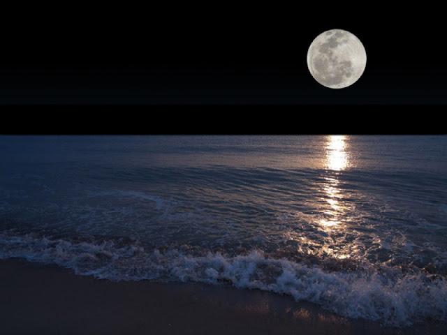 Lua Cheia na praia - lua cheia no natal