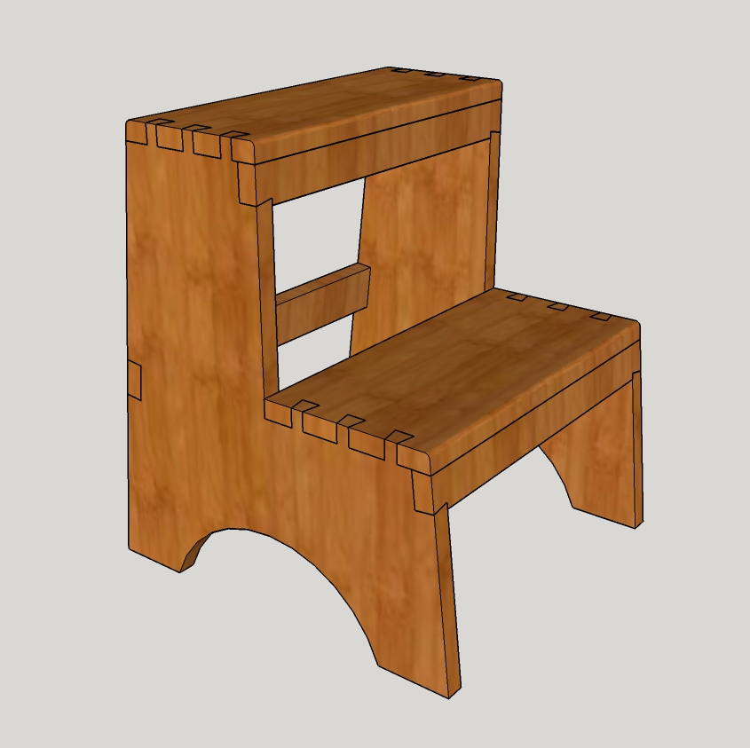 Fabulous Woodworking In A Tiny Shop Shaker Two Step Stool Part 1 Ibusinesslaw Wood Chair Design Ideas Ibusinesslaworg
