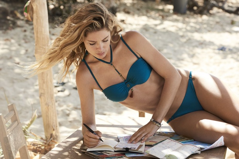 Doutzen Kroes poses in Hunkemöller's Doutzen Stories Swimwear campaign