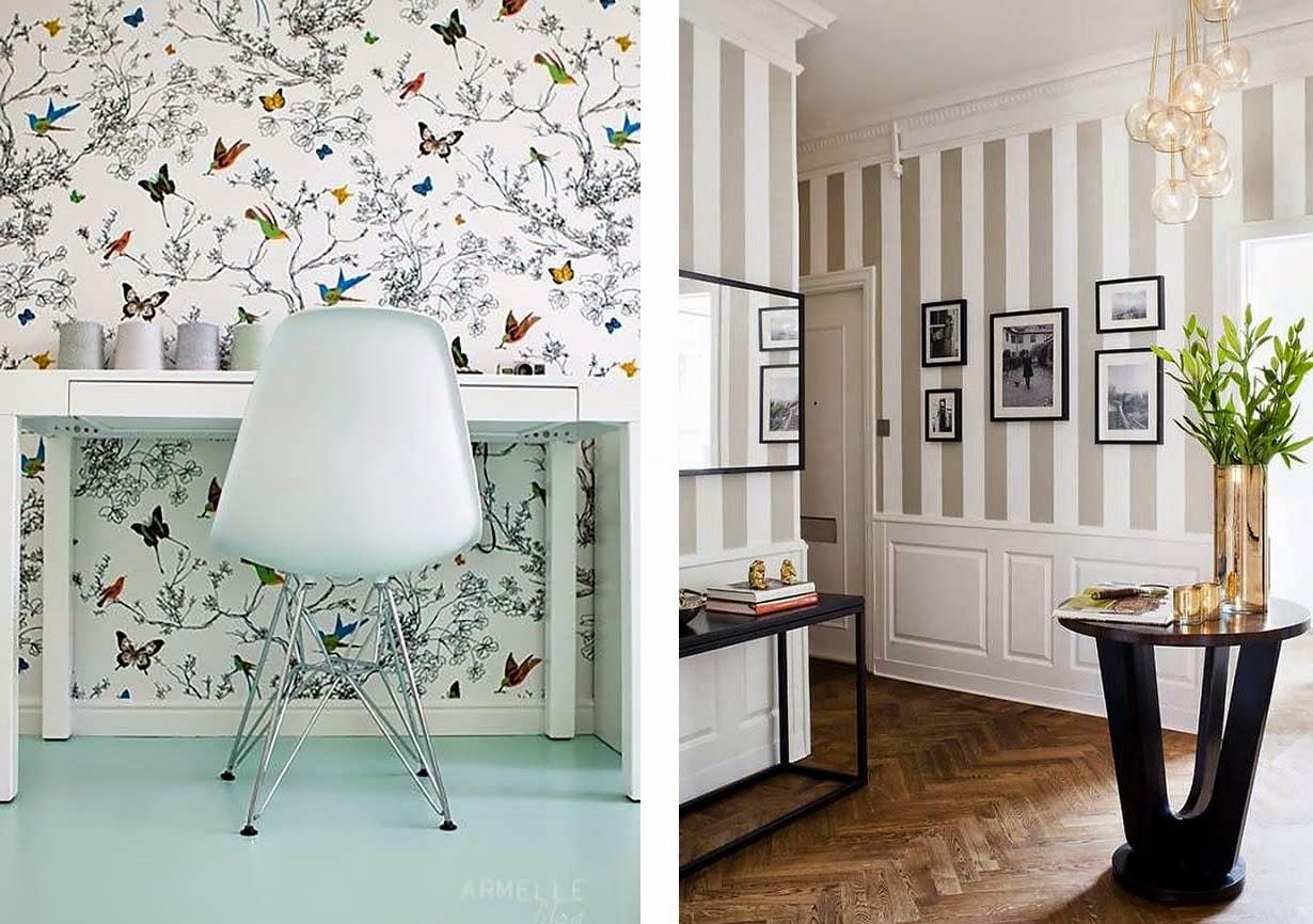 Ideias para decorar com papel de parede decora o f cil - Papel para decorar paredes ...