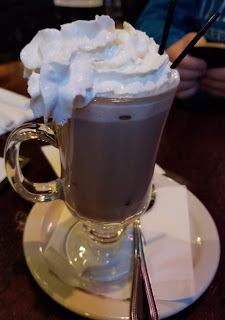 Delicious hot chocolate drink from Dugan's, October 2018