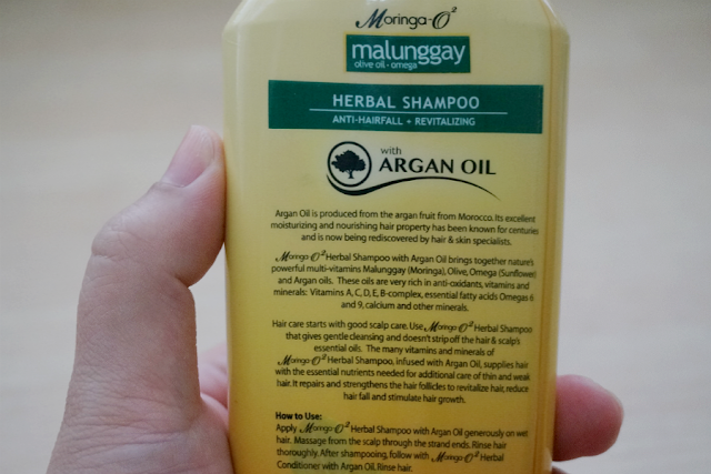 Moringa O2 Herbal Shampoo with Argan Oil
