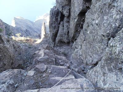 Acceso al Paso de la Piedra en Faneque