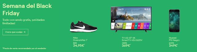 Top 5 ofertas Semana del Black Friday de eBay