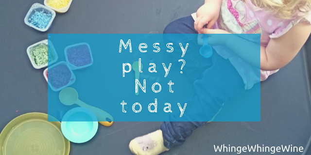 Messy play? Not today - why I am not a pinterest mum